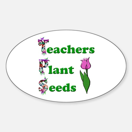 Cute Preschool teacher Sticker (Oval)