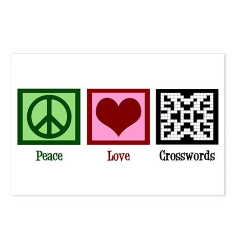 Peace Love Crosswords Postcards (Package of 8)