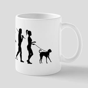 Girl Dog Walker Mug