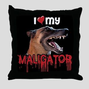 Love My Maligator Throw Pillow