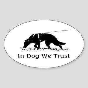 dogwetrust Sticker (Oval)