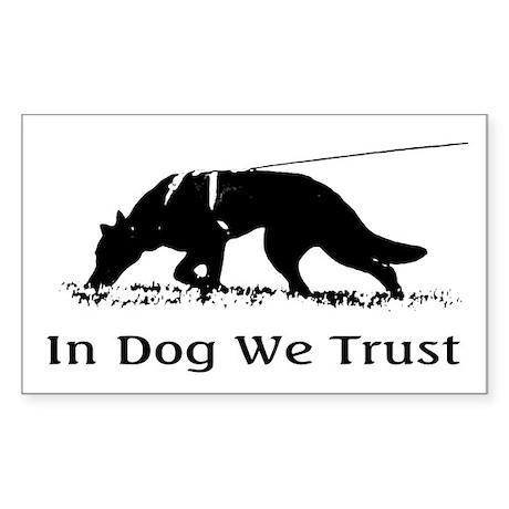 dogwetrust Sticker (Rectangle)