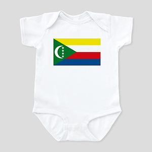 Comoros Flag Infant Creeper