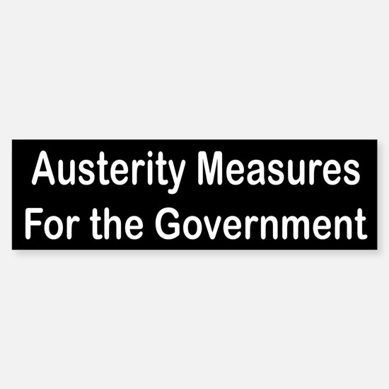 Austerity Measures for the Gvmnt.