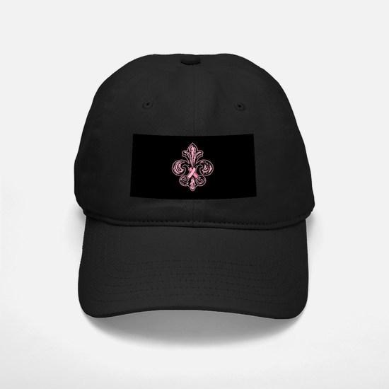 Pink Fleur Ribbon Baseball Hat