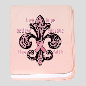Pink Fleur Ribbon Infant Blanket