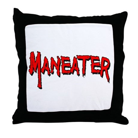 Maneater Throw Pillow
