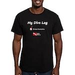 Dive Log Men's Fitted T-Shirt (dark)