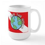 DiveWorld Flag Large Mug