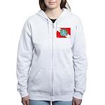 DiveWorld Flag Women's Zip Hoodie