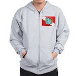 DiveWorld Flag Zip Hoodie