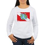 DiveWorld Flag Women's Long Sleeve T-Shirt