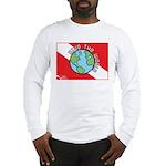 DiveWorld Flag Long Sleeve T-Shirt