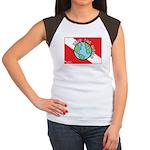 DiveWorld Flag Women's Cap Sleeve T-Shirt