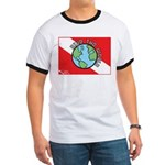 DiveWorld Flag Ringer T