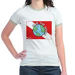 DiveWorld Flag Jr. Ringer T-Shirt