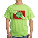 DiveWorld Flag Green T-Shirt