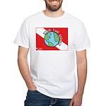 DiveWorld Flag White T-Shirt