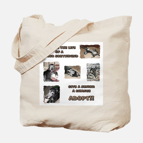 A Day in the Life of a Senior Tote Bag