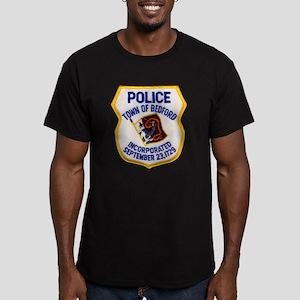 Bedford Mass Police Men's Fitted T-Shirt (dark)