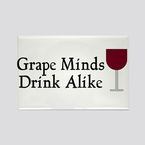 Grape Minds Think Alive Wine Rectangle Magnet