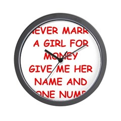 funny joke for men Wall Clock