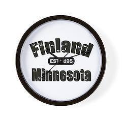 Finland Minnesota Established 1895 Wall Clock