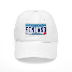 Finland License Plate Baseball Cap