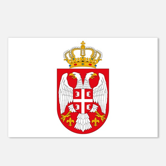 Serbian Coat of Arms Postcards (Package of 8)
