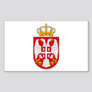 Serbian Coat of Arms Rectangle Sticker