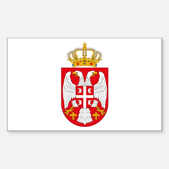 Serbian Coat of Arms Rectangle Decal