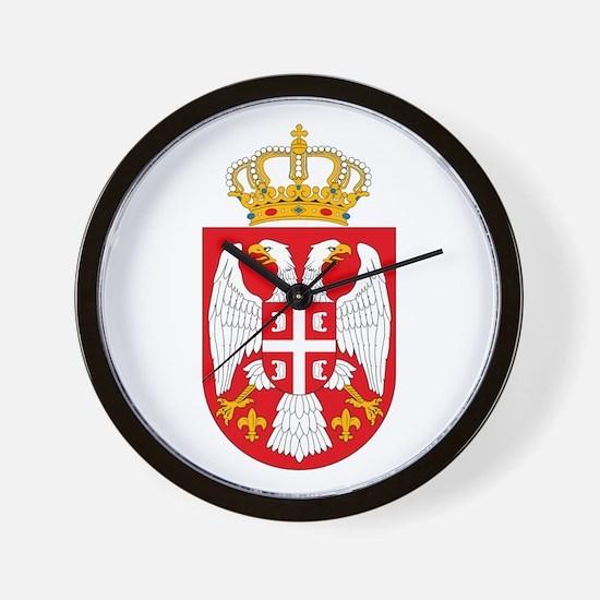 Serbian Coat of Arms Wall Clock