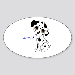 Home? Sticker (Oval)