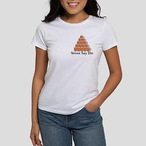 Never Say Die Logo 7 Women's T-Shirt Design Front