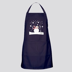 Holiday Snowman Apron (dark)