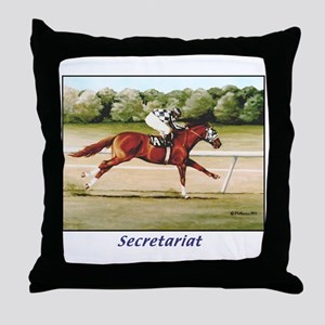 Secretariat Throw Pillow