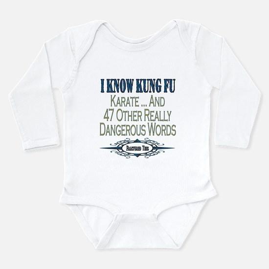 Kung Fu Long Sleeve Infant Bodysuit