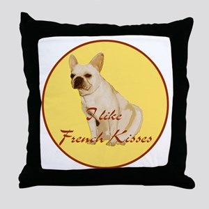 French Kisses Throw Pillow