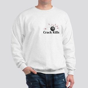 Crack Kills Logo 2 Sweatshirt Design Front Pocket