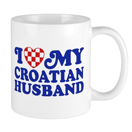 I Love My Croatian Husband Mug