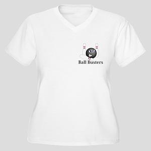 Ball Busters Logo 5 Women's Plus Size V-Neck T-Shi