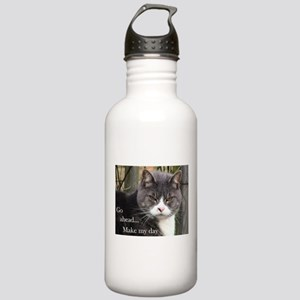 Go ahead Make my day - Cute Cat Stainless Water Bo