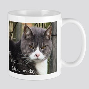 Go ahead Make my day - Cute Cat Mug