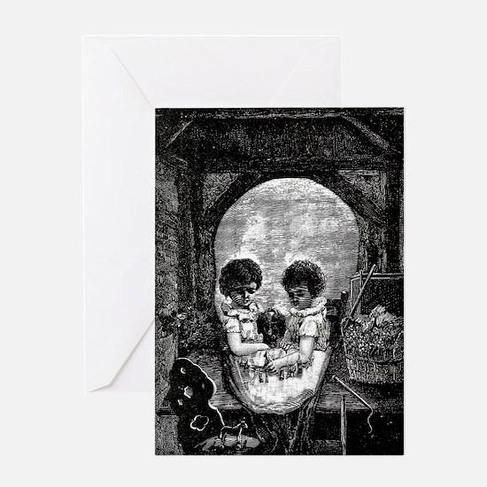 Skull Children Greeting Card