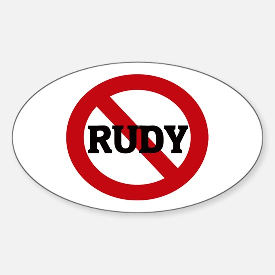 Anti-Rudy Oval Decal