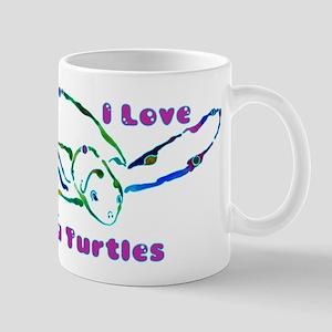 Sea Turtle Designs in Green & Mug
