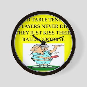 table tennis Wall Clock