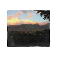 Maui Mountains Throw Blanket