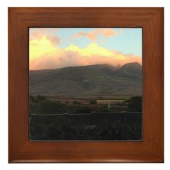 Maui Mountains Framed Tile
