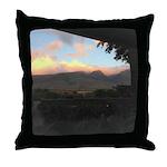 Maui Mountains Throw Pillow